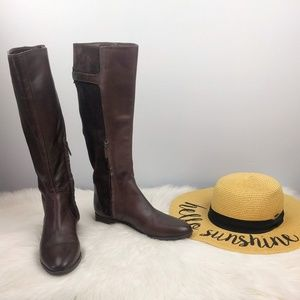 Sam Edelman Patton Riding Boots Brown Size 7.5 M